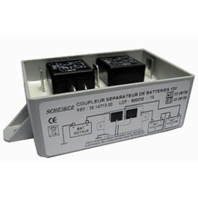 Coupleur séparateur pour 3 batteries 12V