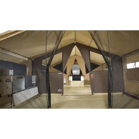 Façade tulle pour caravane Lodge Cabanon