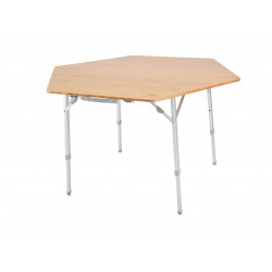 Table pliante hexagonale bambou Defa