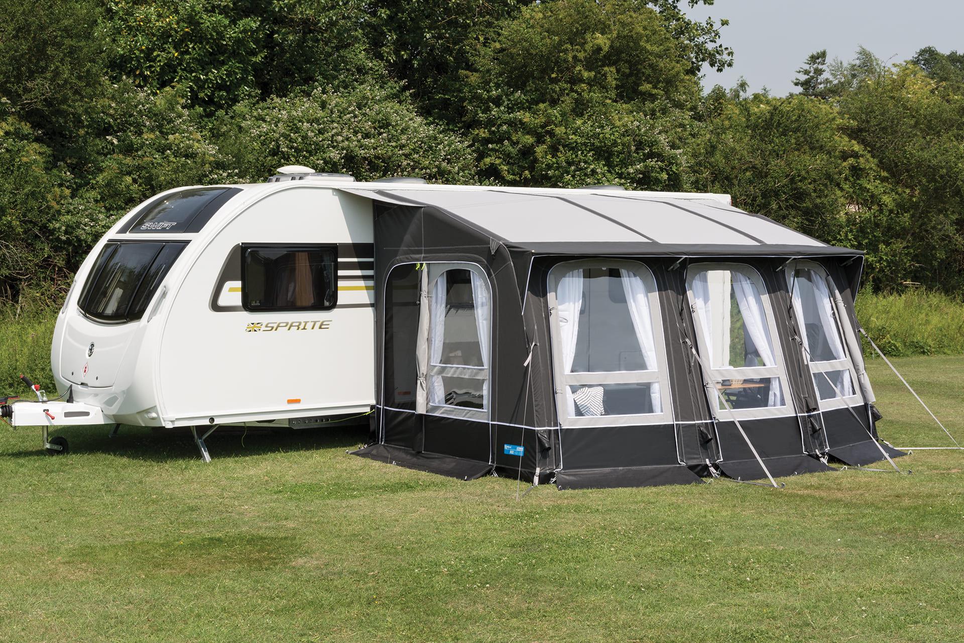 release date: united kingdom various design Auvent gonfable caravane Ace Air 400 - 4 saisons - Kampa