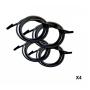 Lacets élastiques blanc avec embouts Lafuma (les 4)
