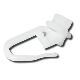 Agrafe avec glisseur plastique