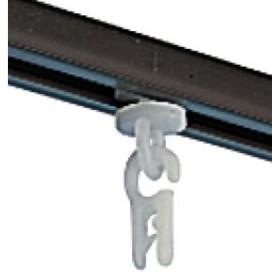 Crochet pour rail de rideau en C -Lot de 10- Euro Accessoires